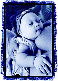 Cyanotype of breastfeeding by Maria de Fatima Campos © 2010